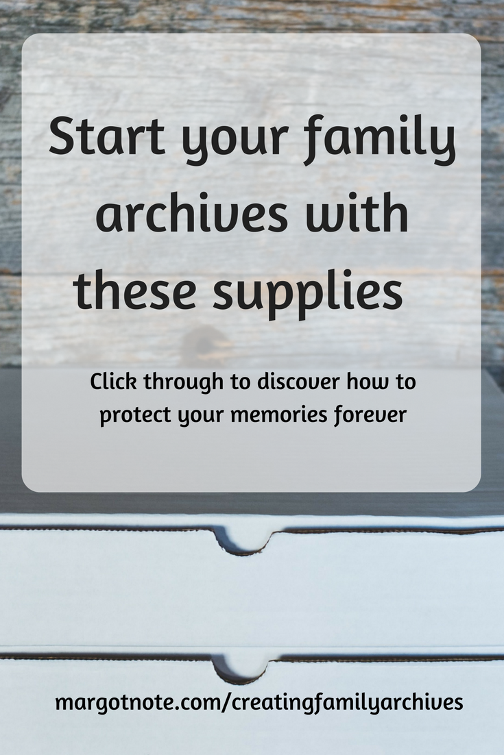Start your family archives with these supplies