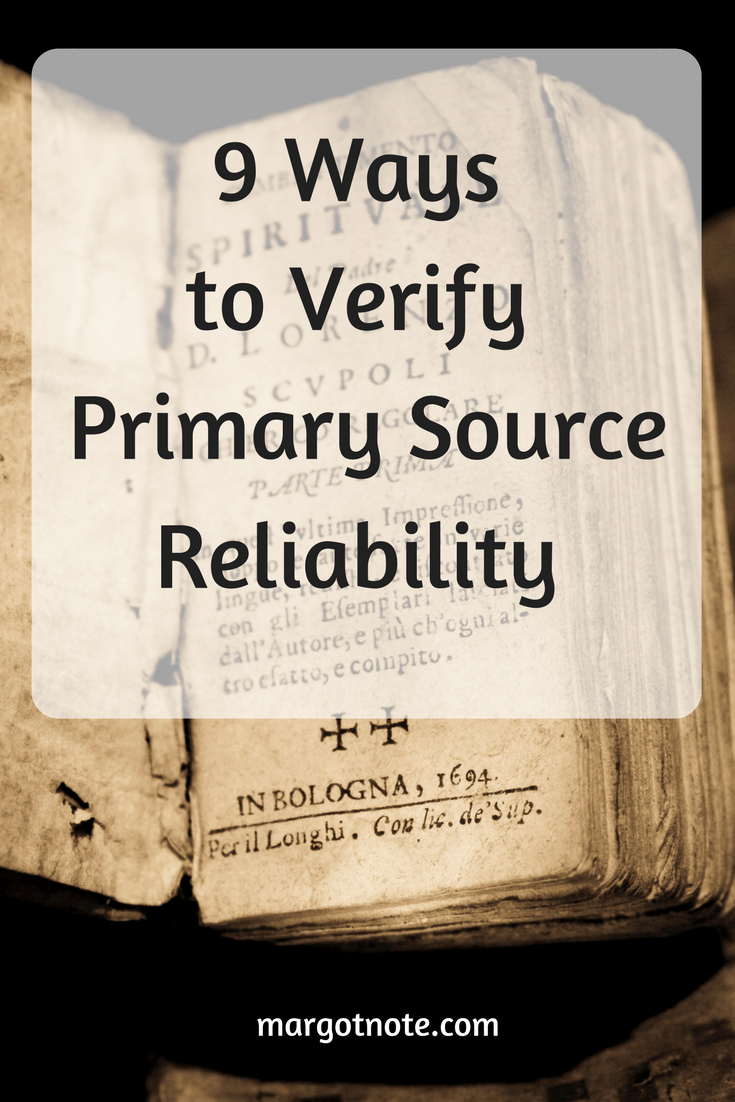 9 Ways to Verify Primary Source Reliability