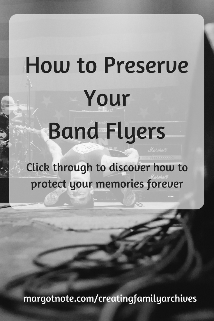 How to Preserve Your Band Flyers
