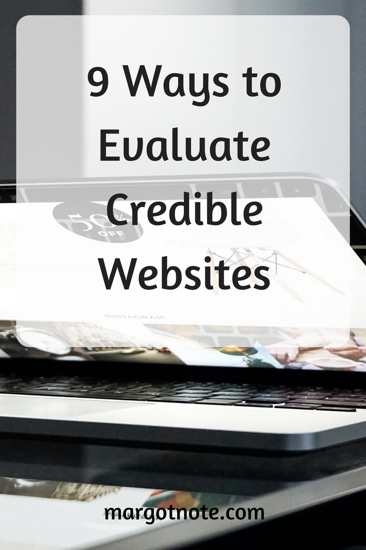 9 Ways to Evaluate Credible Websites