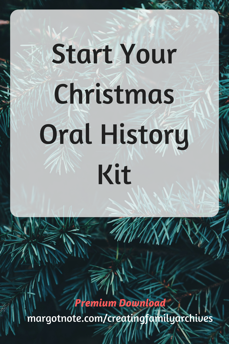 Start Your Christmas Oral History Kitw