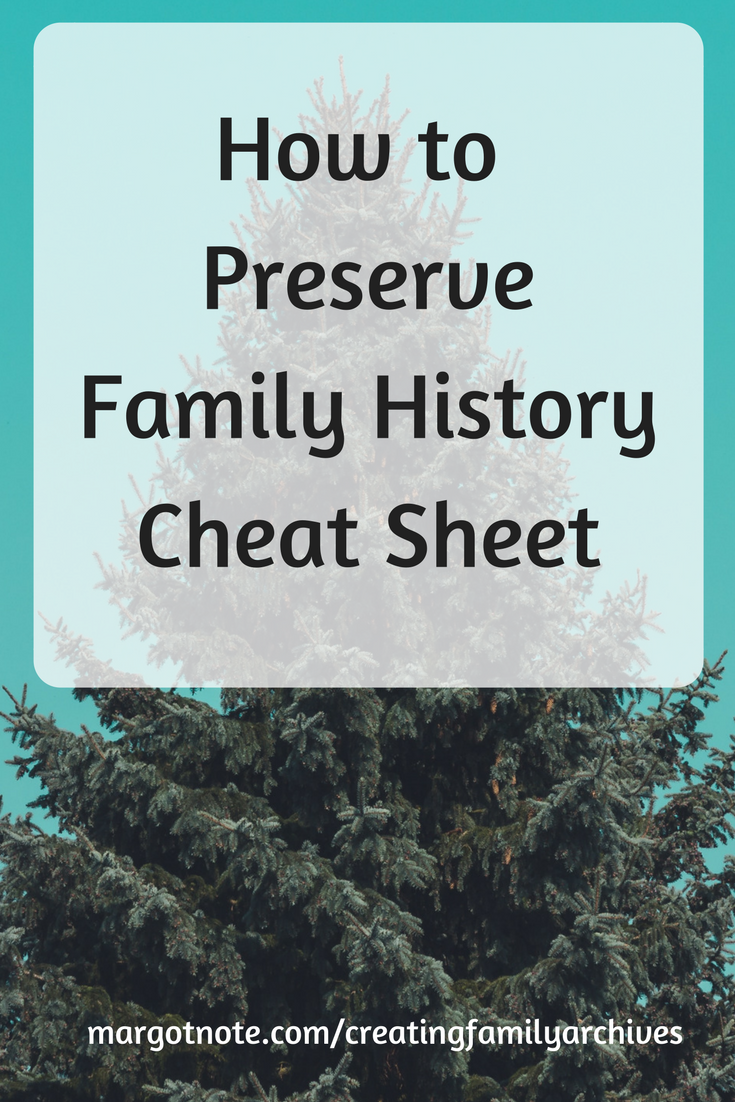 How to Preserve Family History Cheat Sheet