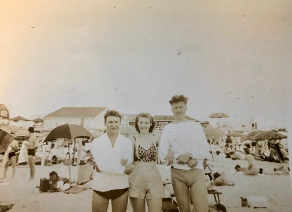 Ray, Ann, and Otto at Rockaway Beach on July 16, 1939