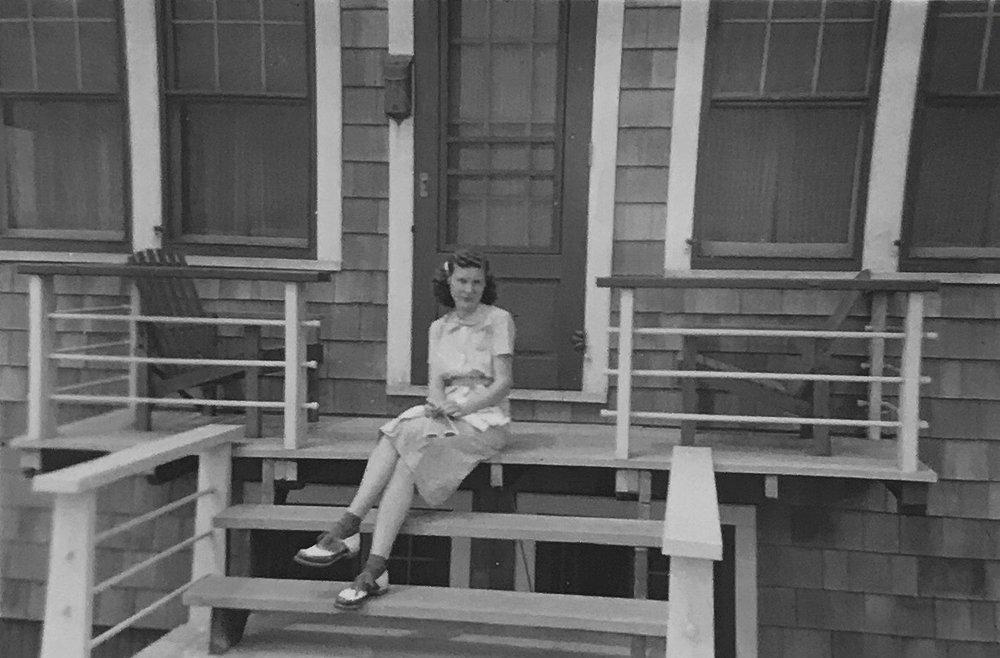 """My grandma wrote on the back, """"Pt. Pleasant, N.J. 1940 Honeymoon."""""""