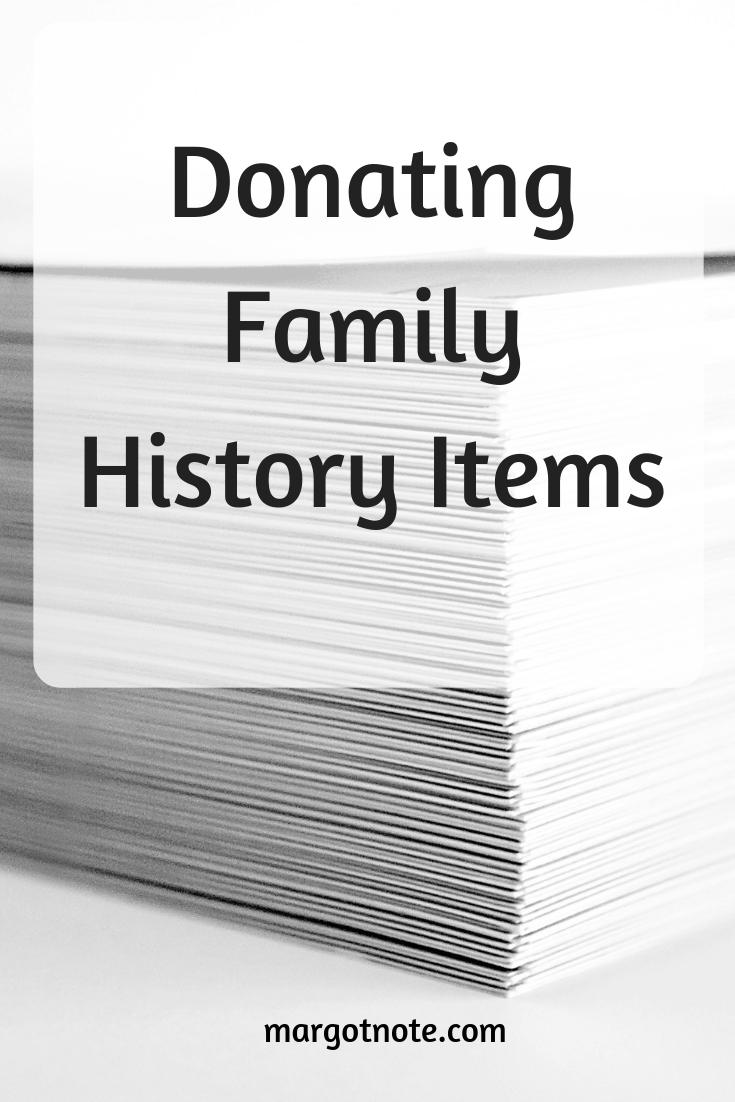 Donating Family History Items