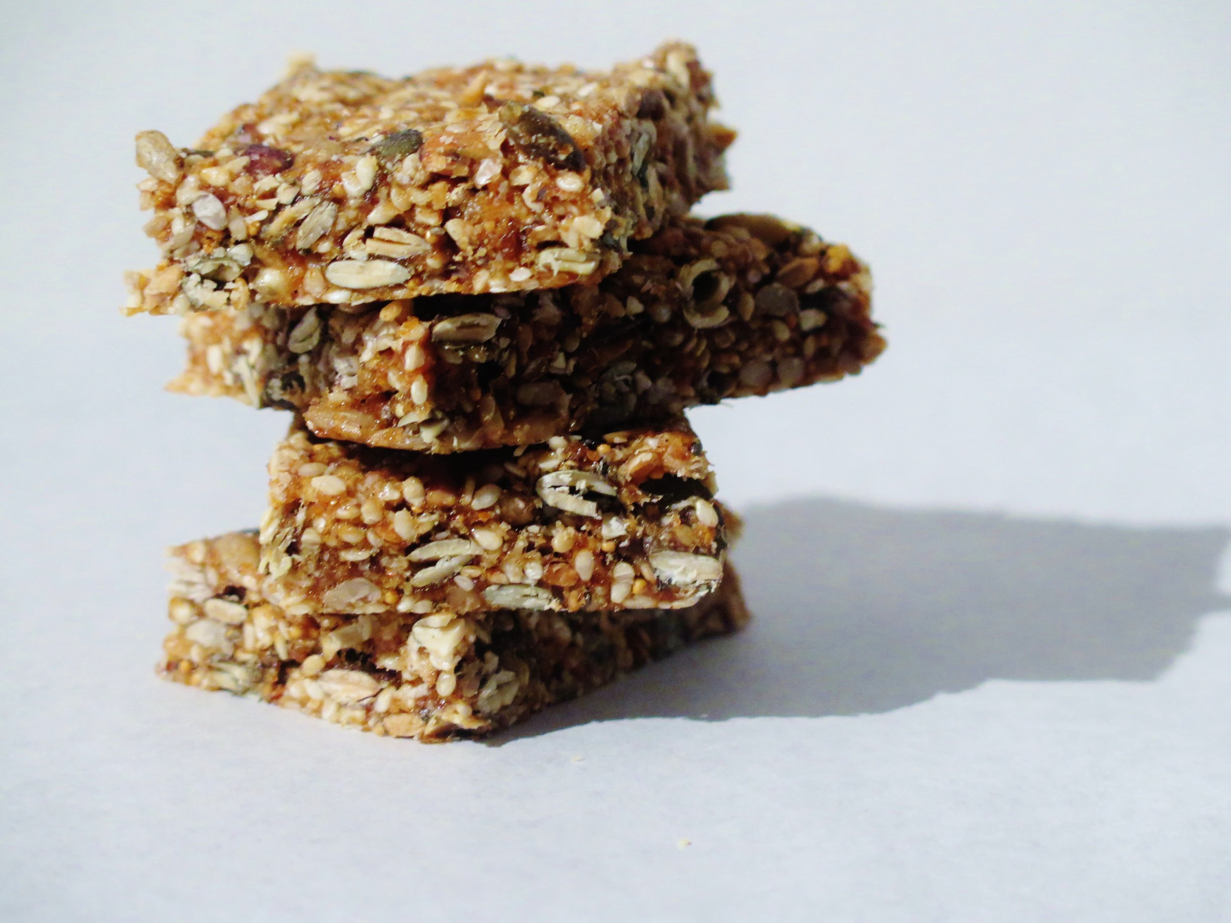 Carb-free, Sugar-free, Gluten-free  Fruit & Seed Bars