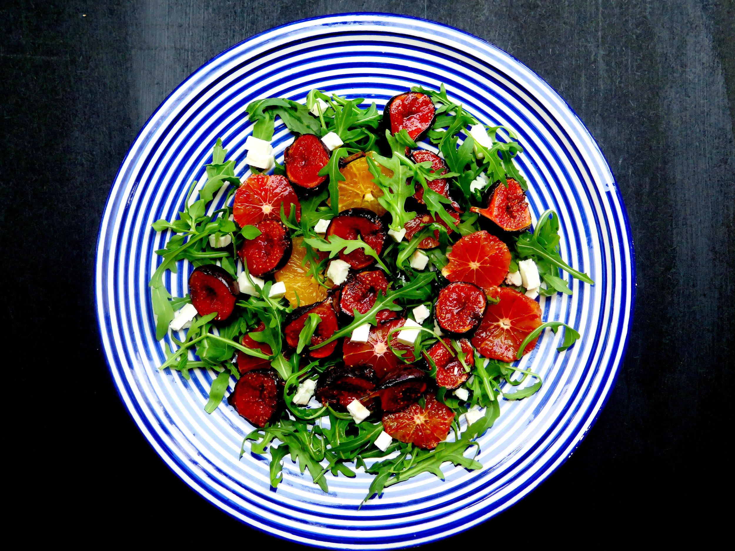 Caramelised Fig, Feta, Orange & Rocket Salad - Recipe