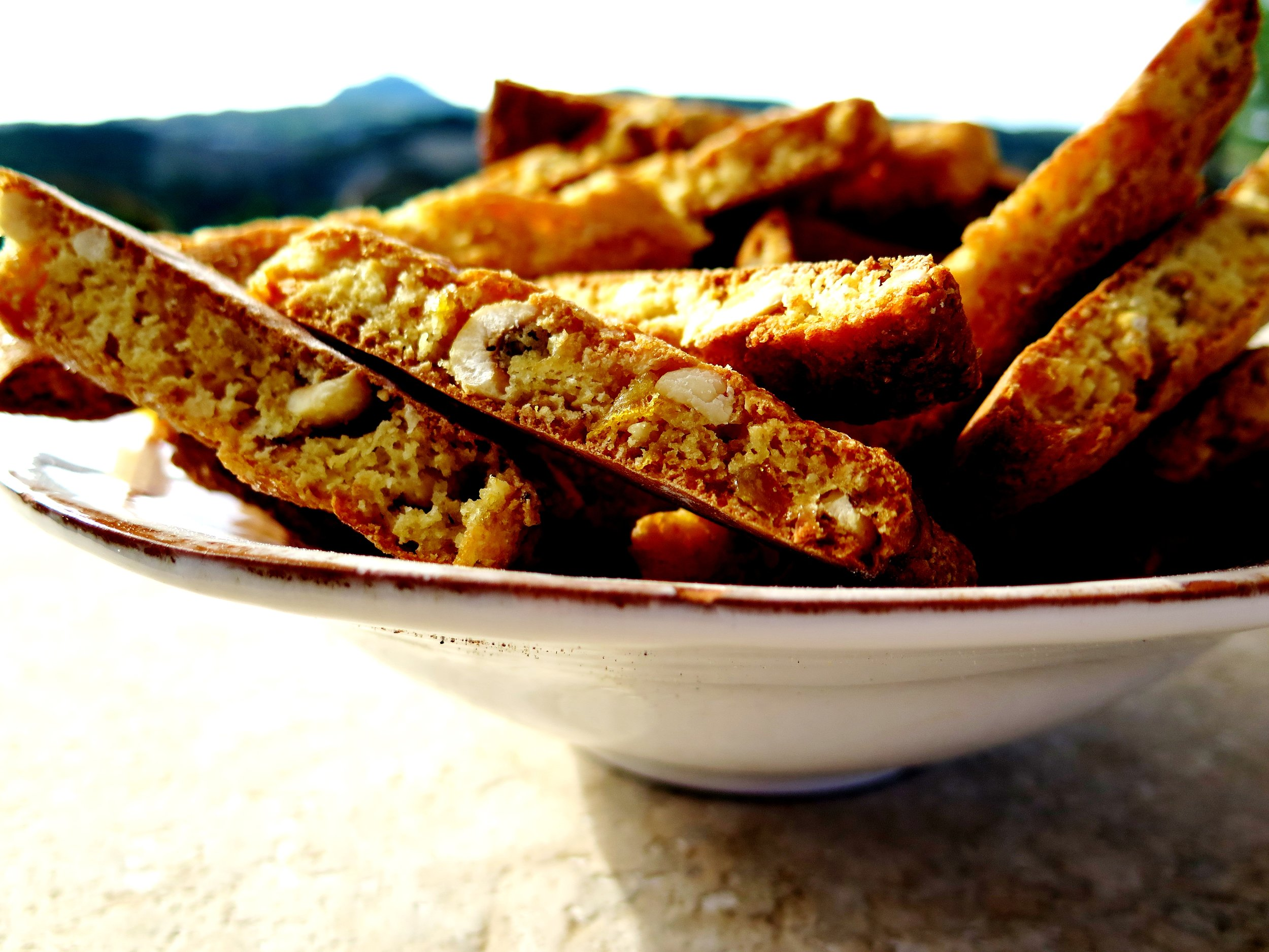 Candied Ginger & Orange Hazelnut Biscotti - Recipe