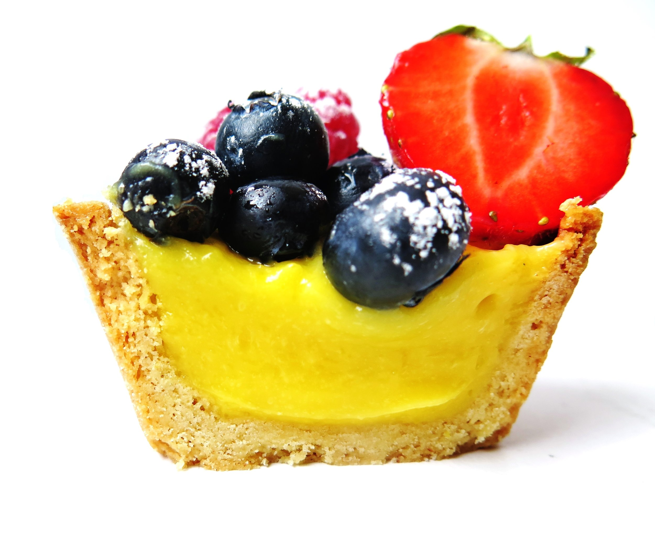 Summer Berry Lemon Curd Tarts