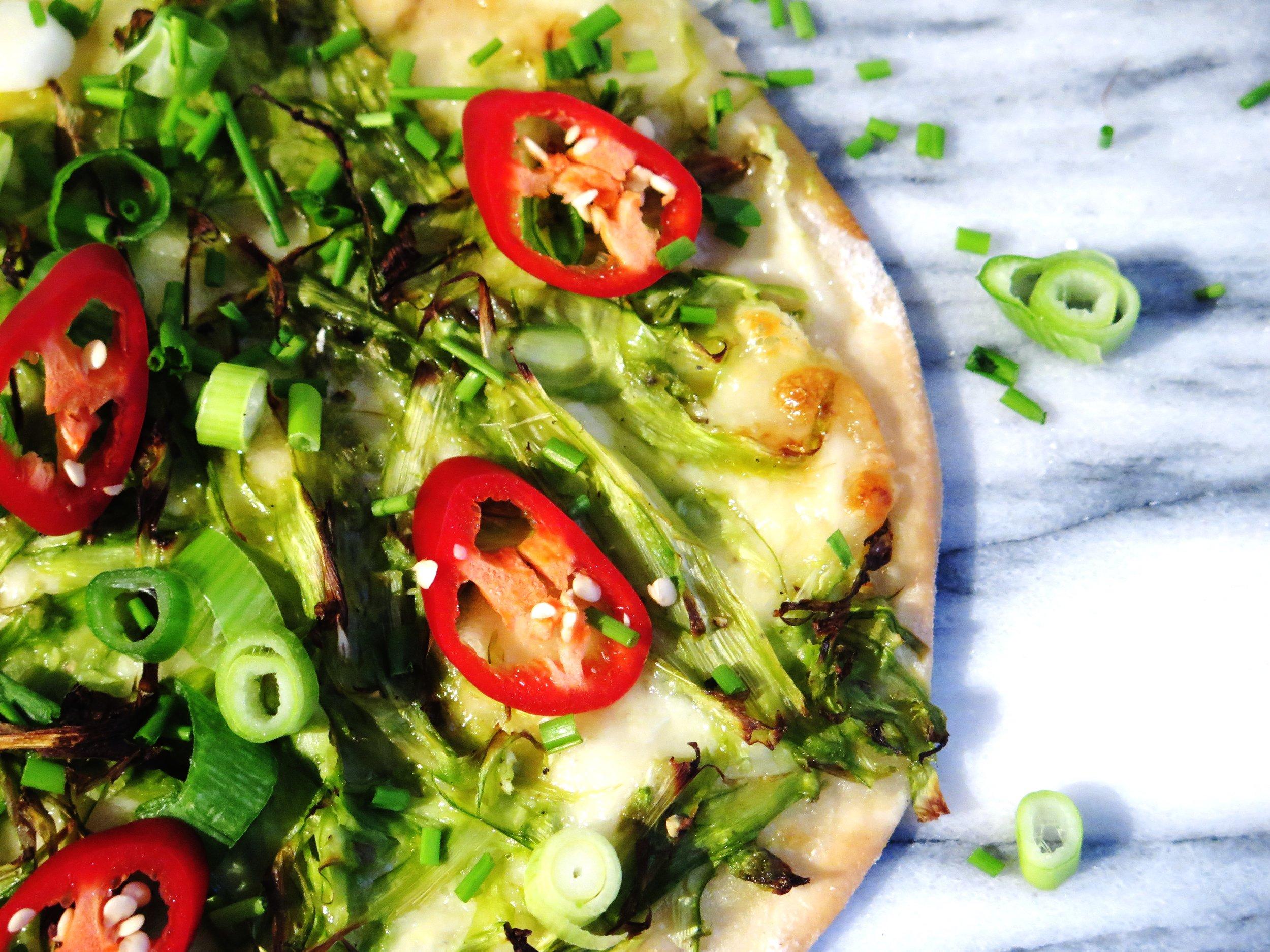 Quick Asparagus & Parmesan Pizza