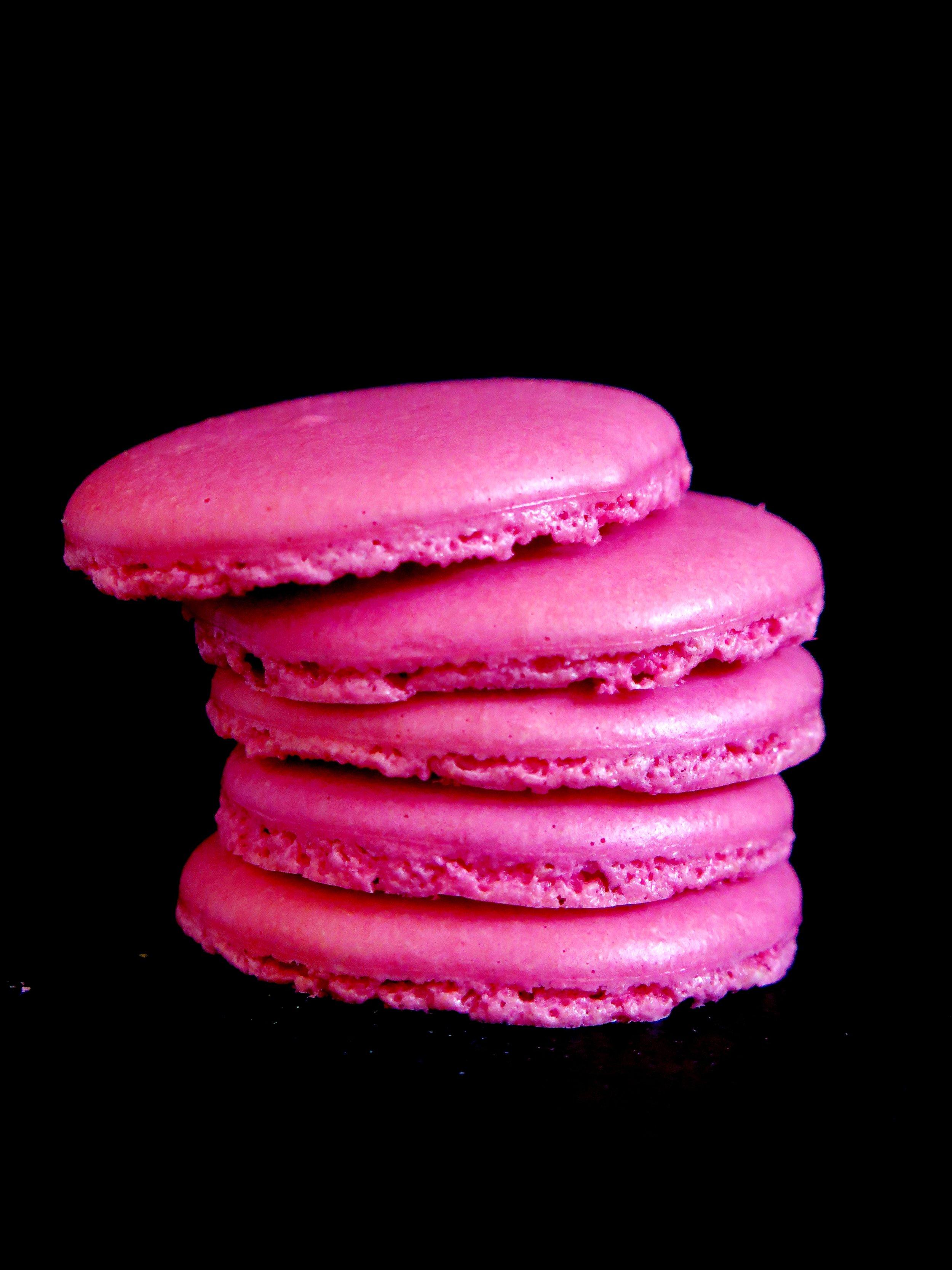 Tipsy Triple Raspberry Macarons