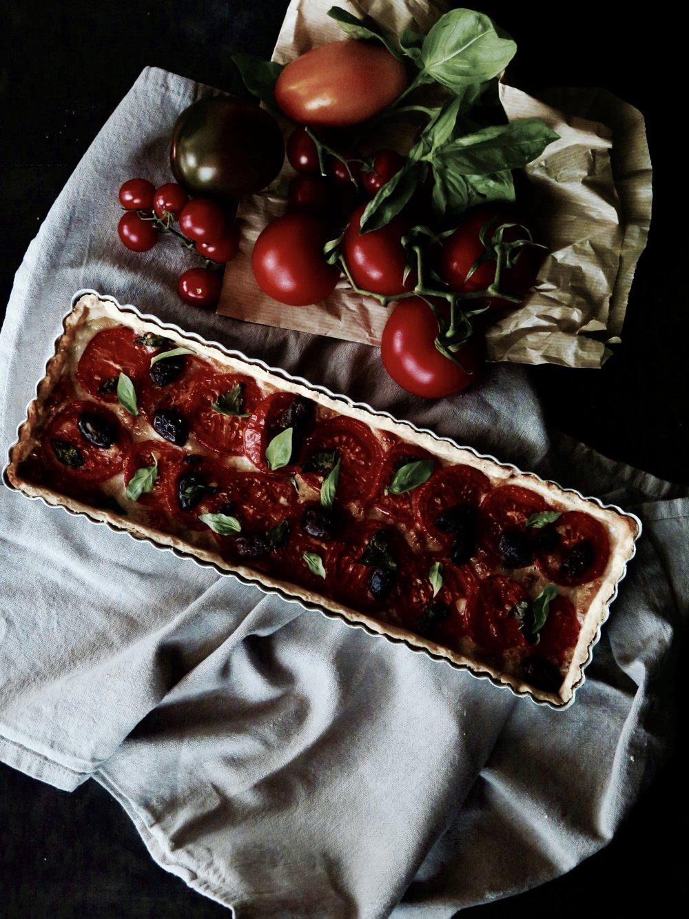 Mozzarella Tomato Basil Crostata Recipe