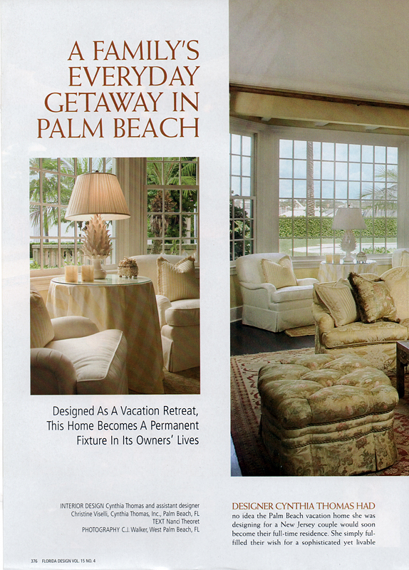 Florida Design Vol 15 No 4 Cynthia Thomas Interiors