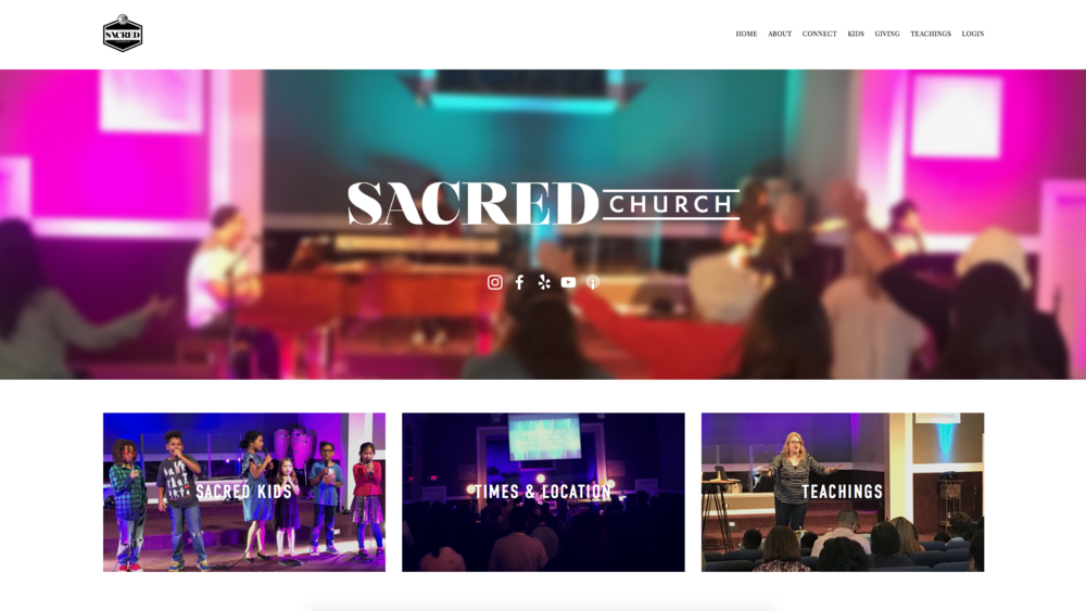 Website for Sacred Church
