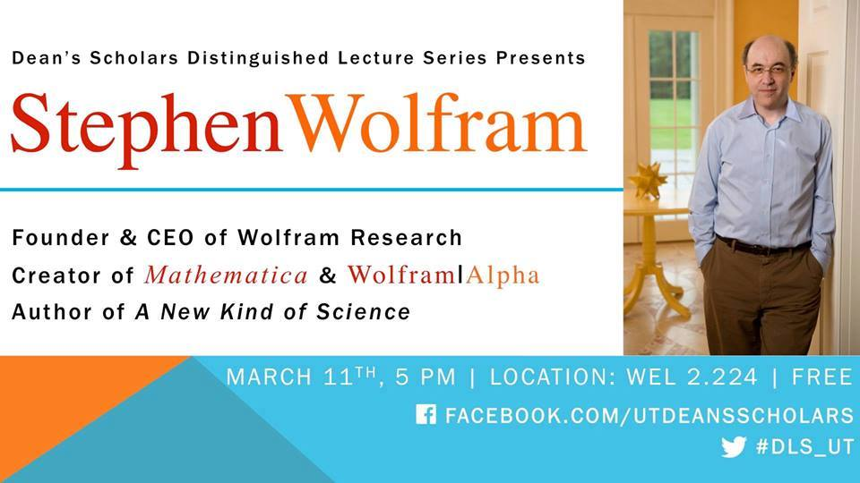 Stephen Wolfram: Distinguished Lecture Series — CATALYST