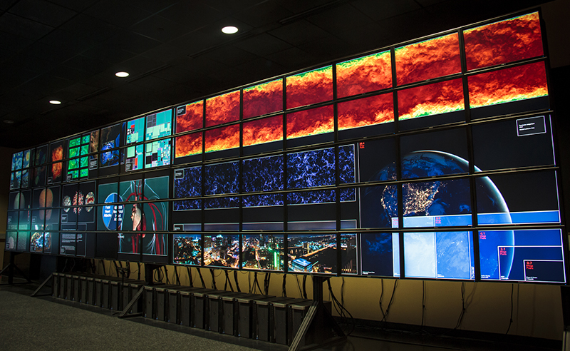 Stallion 80-screen visualization of the Milky Way. Photo: Texas Advanced Computing Center