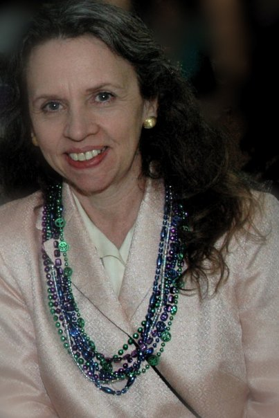 Barbara at Mardi Gras Party