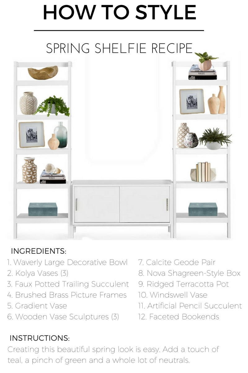 how to style shelve spring recipe