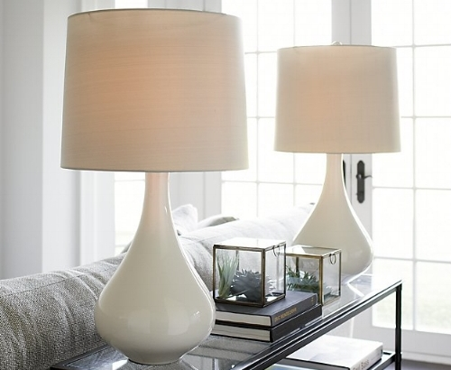 decorating console table with lamps