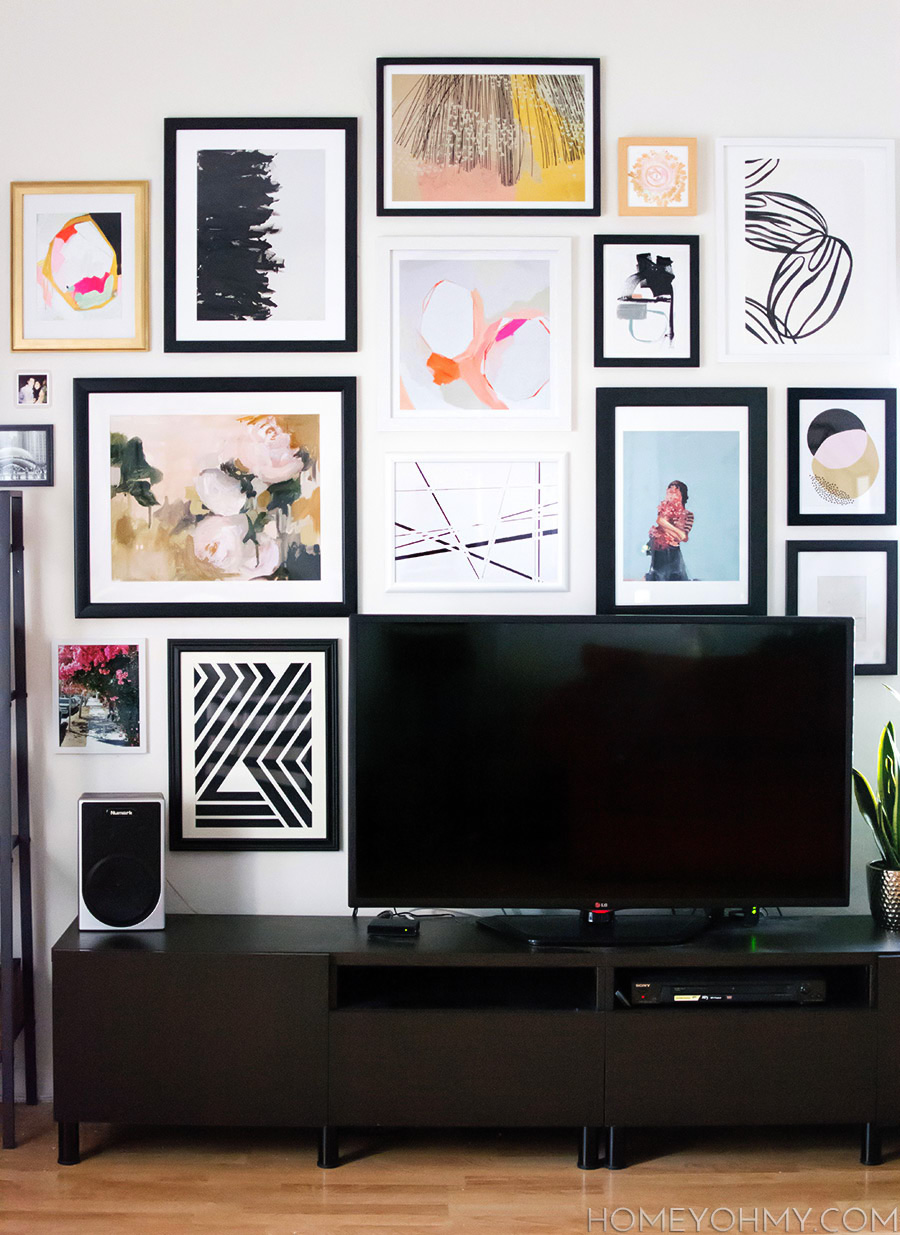 TV Gallery Wall Layout