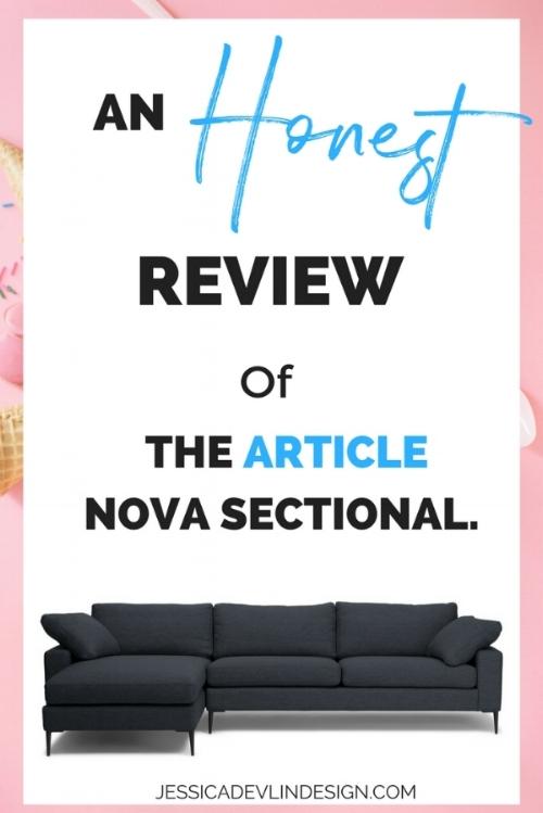 Honest Review Of The Article Nova Sectional Jessica Devlin Design