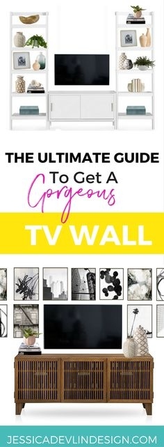 how to decorate a tv wall