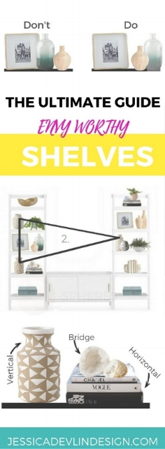 how to decorate bookshelves without books