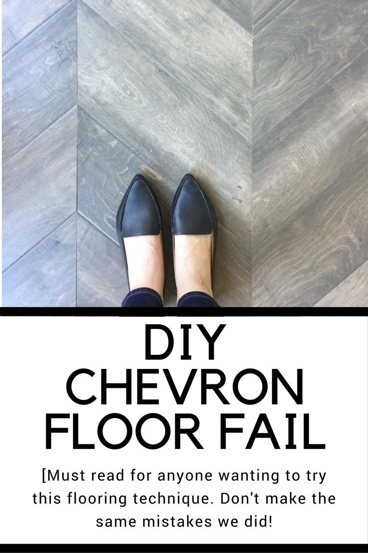 DIY CHEVRON HARDWOOD FLOORING