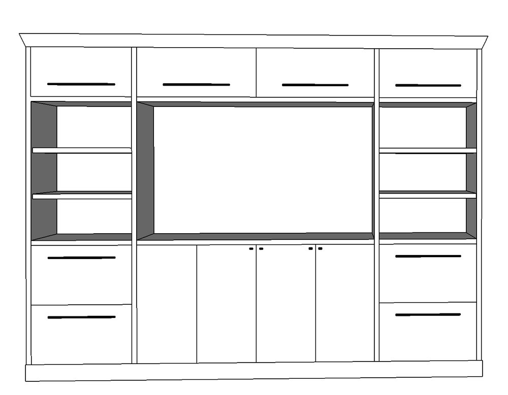 IKEA SECTION TV UNIT HACK