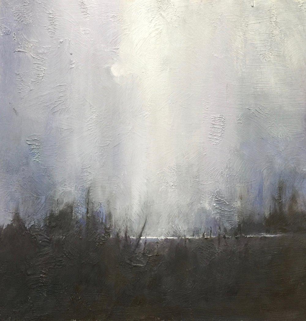 'Rain Shower Over a Beaver Pond'