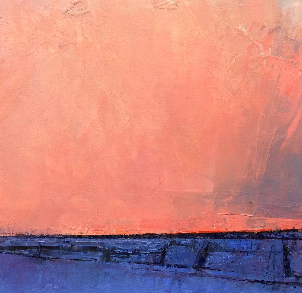 'Winter Dusk-Alberta' (Available at Edge Gallery, Calgary Alberta).
