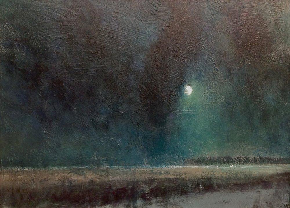 'Moon Over Lake Huron'