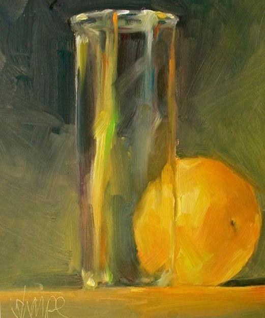 'Orange and Pom Glass'