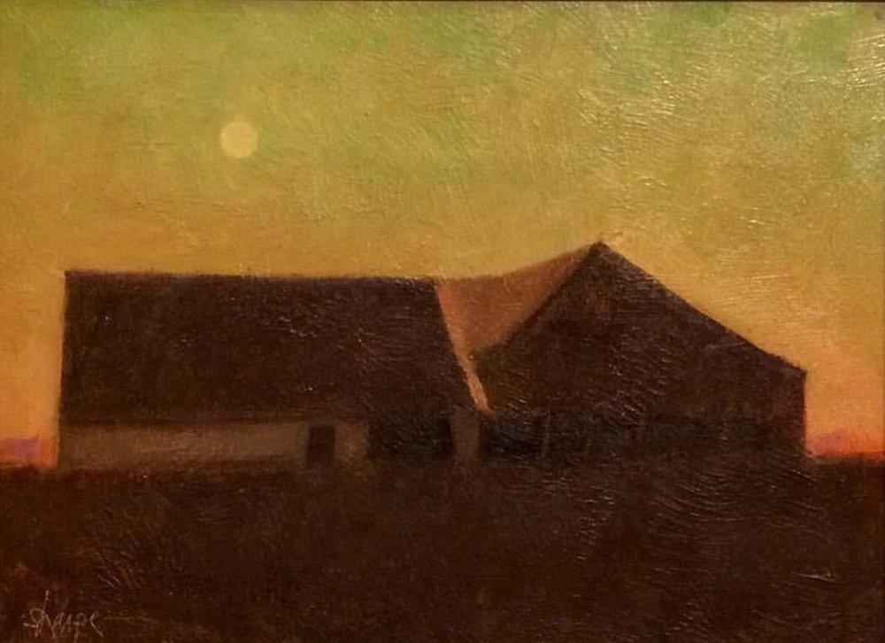 'Dusk Over Bell's Barn' (Sold)