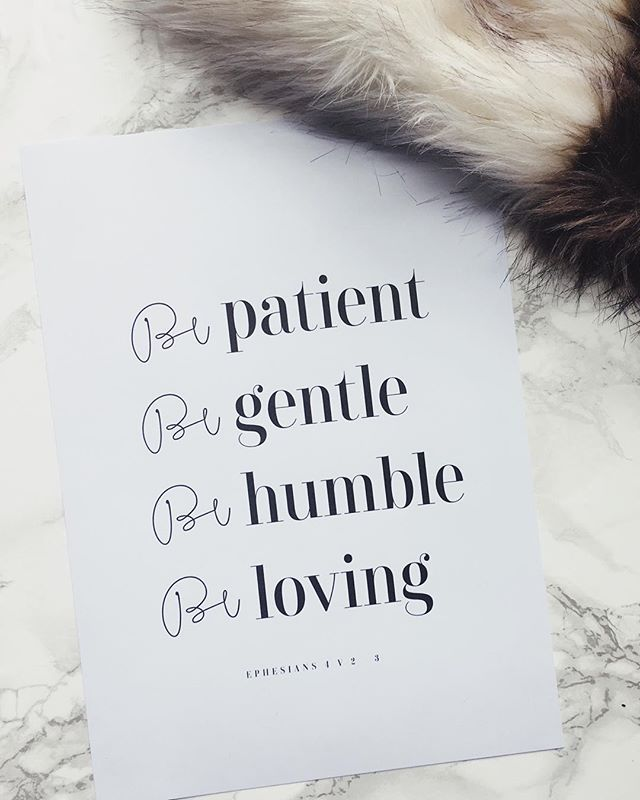 Be Patient. Be Gentle. Be Humble. Be Loving. . . . . . .  #creativechristianstoreuk #simplicity #communityofchristiancreatives #faith #truth #minimalist #calledtobecreative #ccstoreuk #ccstore #creativechristianstore #shereadstruth #home #interiordecorating #decor #biblequotes #homeware #bibleverse #journal #moderncalligraphy #ukcalligraphy #artoftheday #artoninstagram #letteringco #writing #giftidea #journalingbiblecommunity #handlettering