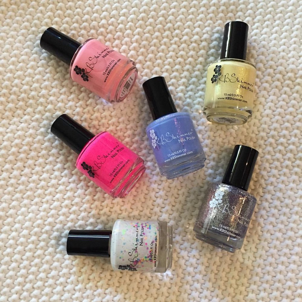 Looks like it's going to be a colorful #summer! @kbshimmer #nailpolish #nails #manicure #pedicure #beauty #blogger