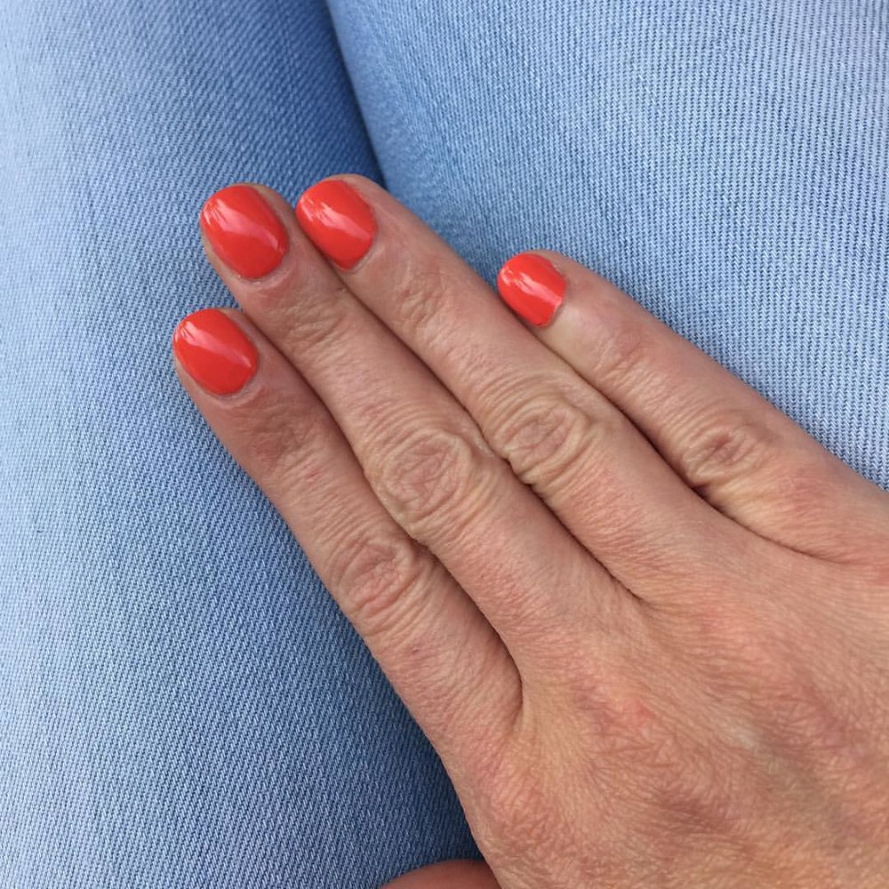 "@essiepolish ""Sunshine State of Mind"" #nails #manicure #coloroftheweek #polish #nailpolish #beauty #summer #blogger"