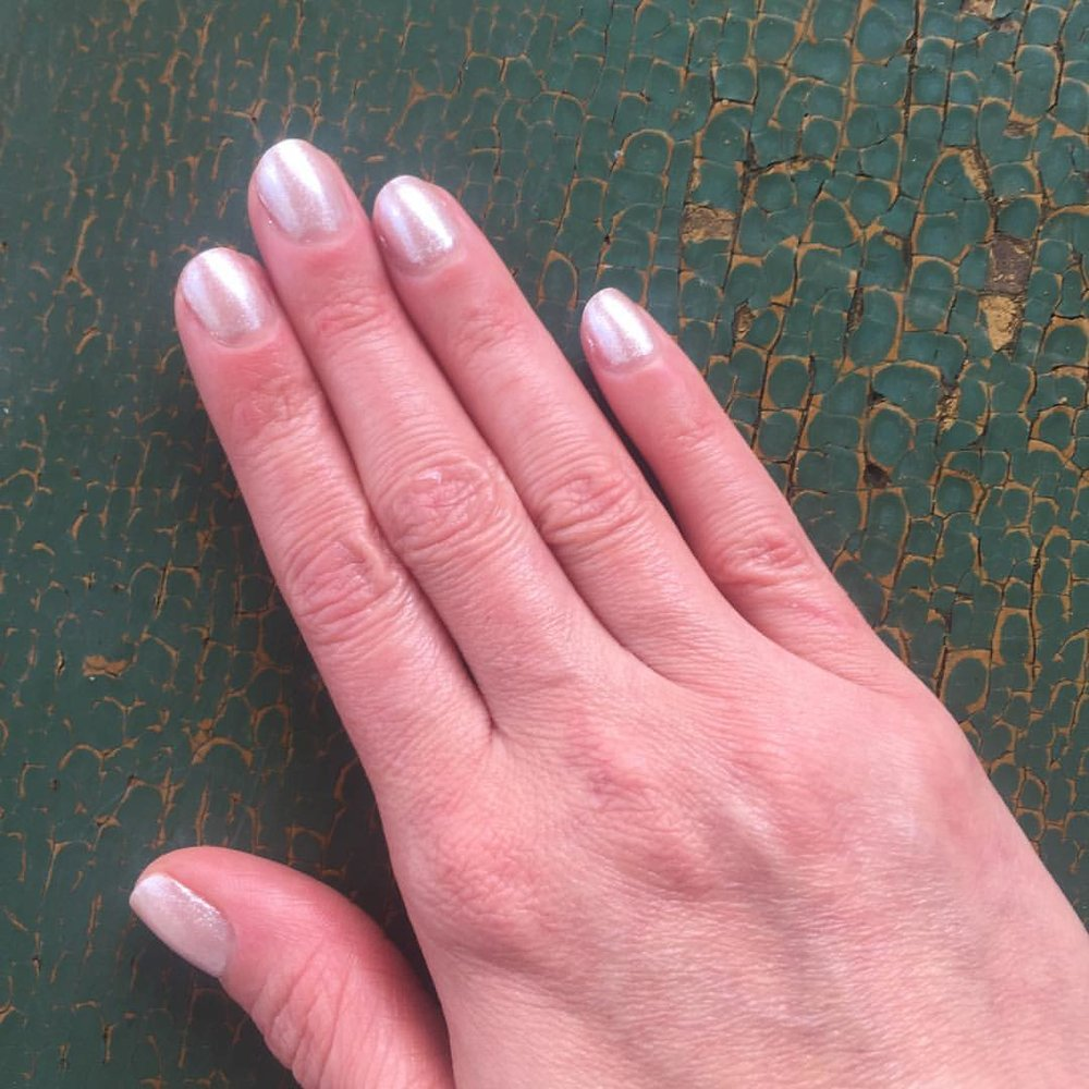 "@opi_products ""Kitty White"" #nails #manicure #coloroftheweek #nailpolish #polish #beauty #spring #neutral"