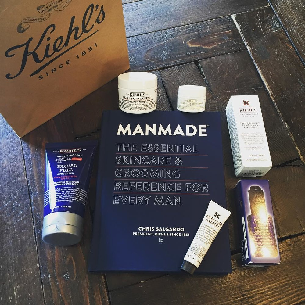 "My ""homework"" before the @kiehlsnyc #BocaRaton Town Center opening event on Wednesday! @chrissalgardo #party #skincare #grooming #soexcited"