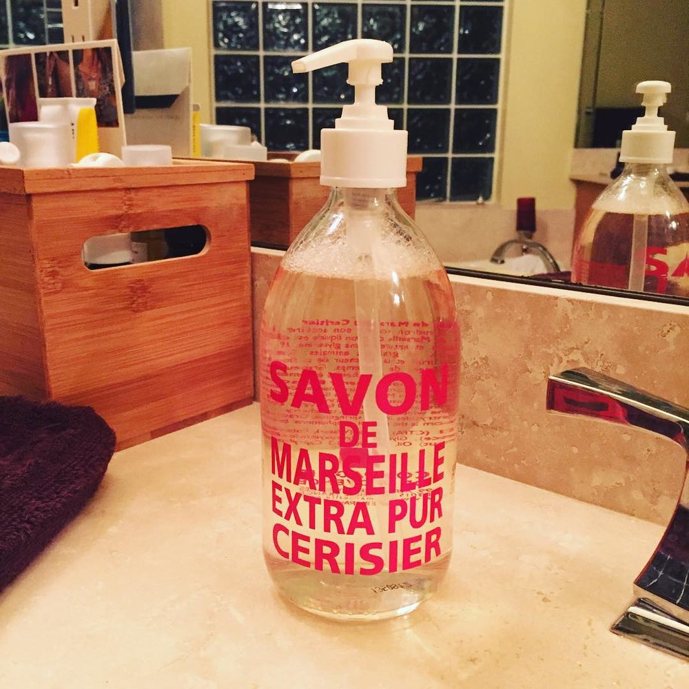 I treated myself to my favorite #handsoap ever. #savondemarseille #cerise #cherryblossom #littleindulgences #happy #wortheverypenny