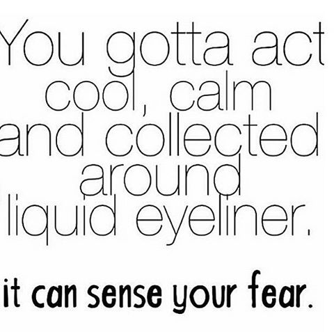 Nothing more #true. I have yet to master the art. #eyeliner #cateye #igiveup #beauty #makeup #mymomcandoitwalkingdownthestreetinnyc
