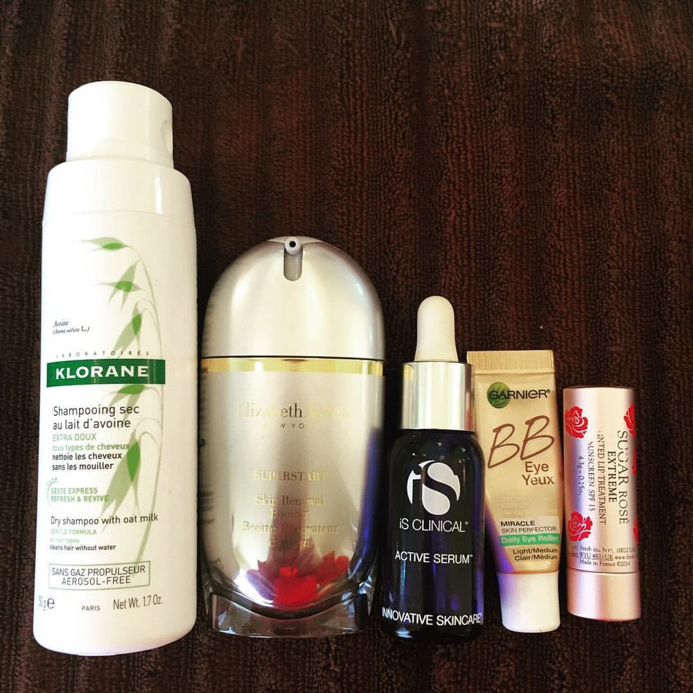 This week's #empties… @kloraneusa @elizabetharden @innovativeskincare @garnierusa @freshbeauty #hair #dryshampoo #skincare #beauty #serum #undereye #bbcream #lipbalm