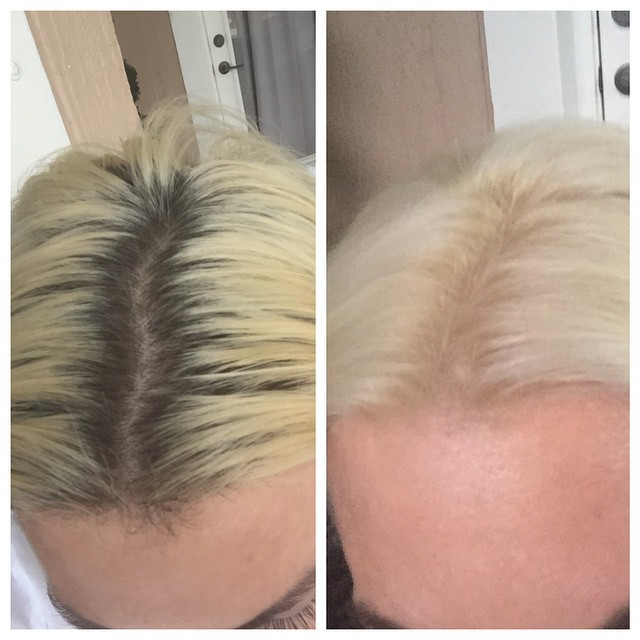 I started the day with this, and ended the day like this. No one in my house noticed. #platinum #blonde #hair #beauty #beforeandafter #wtf