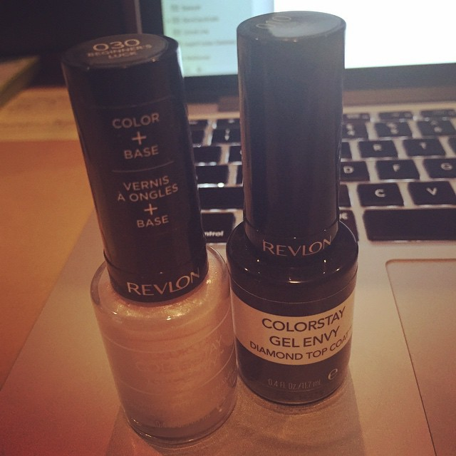 Midday #beauty break with @revlon #GelEnvy in Beginner's Luck. #nails #manicure #procrastinating