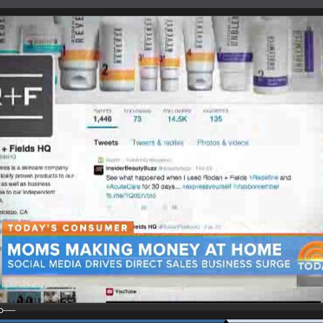 If you blinked you missed it, but my #tweet about @rodanfields was on @todayshow this morning! #beauty #blogger #skincare #bucketlist