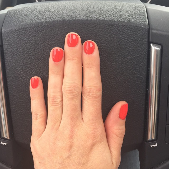"Master #sawyer requested #orange so @opi_products ""Aloha from OPI"" it is. #nails #manicure #coloroftheweek #beauty"