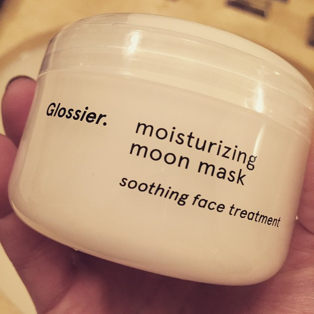 Tonight's dry skin treat… @glossier Moisturizing Moon Mask. #hydration #mask #soothing #ahhhh #beauty #skincare