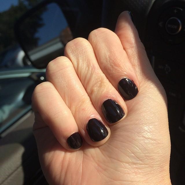 "@essiepolish ""Luxedo"" #nails #manicure #coloroftheweek"