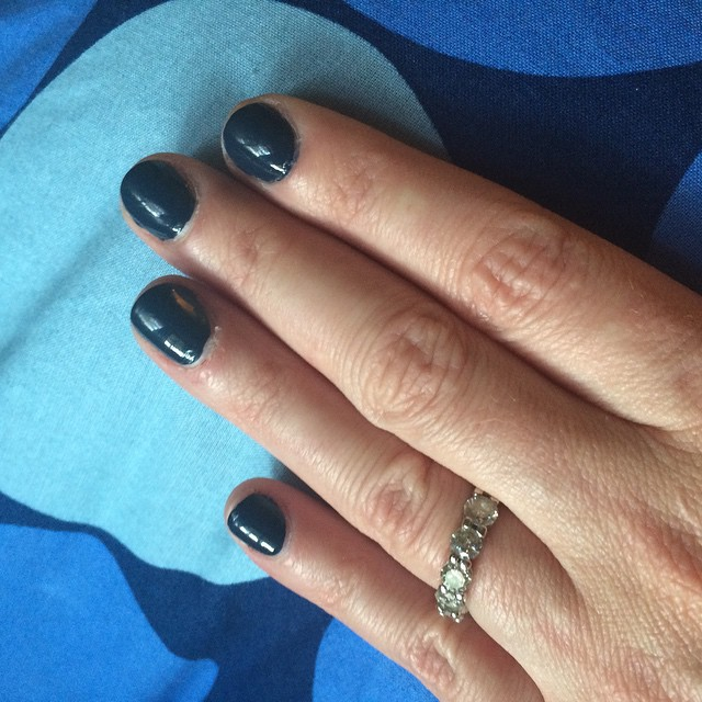 "Morgan Taylor ""Denim Du Jour"" #nails #manicure #coloroftheweek"
