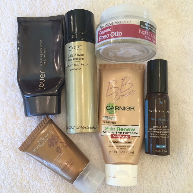 A nice high-low mix of #empties this week! @jouercosmetics @brazilianblowout @oribe @garnierusa @skinceuticals #organicskincaredoctor #skincare #beauty